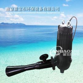 潜水射流曝气机 深水充氧曝气器4kw