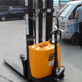 供应1.5/2吨半电动堆高车 半电动叉车 插腿式电动升高车