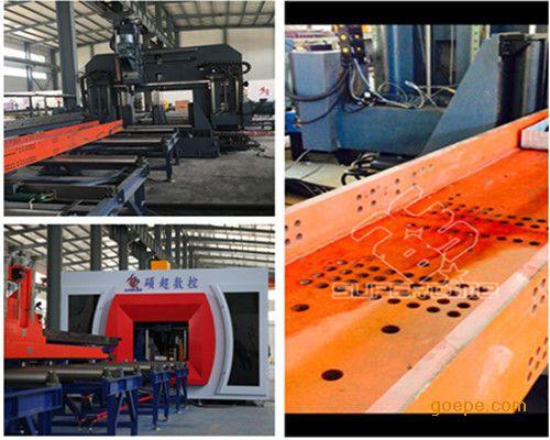 山东H型钢数控三维钻床 时代百超钢梁车库三维钻床设备