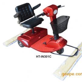 青岛三轮电动尘推车电瓶驾驶扫地卫生清洁工具车间地面保洁设备