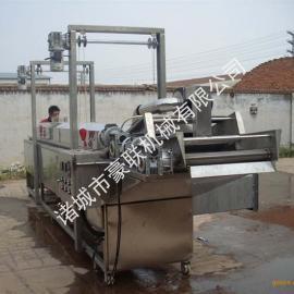 电加热连续式油炸机、大型油炸生产设备
