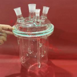 定制3L玻璃仪器 法兰凹槽O型圈密封 玻璃挡板
