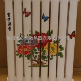 钢二柱散热器 钢二柱暖气片家用 钢制柱型散热器
