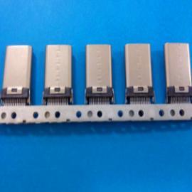 USB 3.1 type-c公头焊线连接器(加长乐视插头)