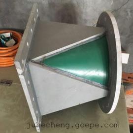 河北 PP塑料方转圆 大小头 环保设备通风管道接口 风机接头