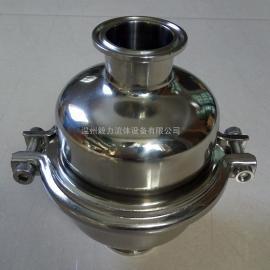304不锈钢快装阻火器 卫生级快装阻火阀 配有双层阻火芯