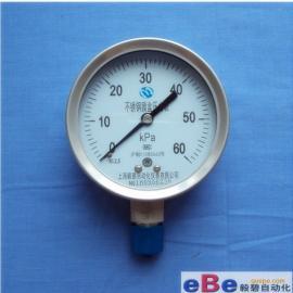 上海压力表厂家/不锈钢膜盒压力表YE-100BF