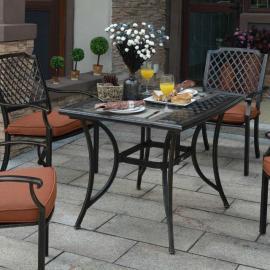 馨宁居户外铸铝桌椅园林景观餐桌椅户外金属家具别墅会所桌椅组合