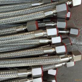 生产不锈钢金属软管304螺母连接,高压金属软管螺纹式-宇星公司