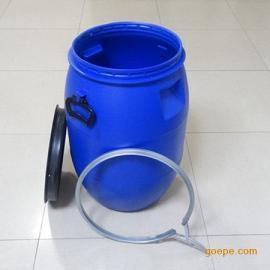 大口�{色60升抱箍塑料桶