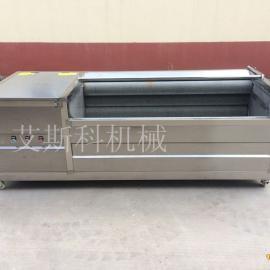供应艾斯科牌机械胡萝卜清洗机毛刷辊清洗设备生产厂家