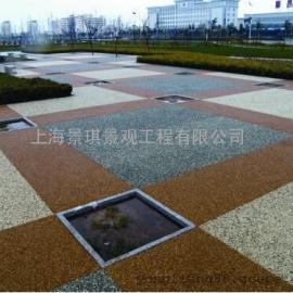 混凝土路面增强剂|彩色透水地坪 海绵城市透水混凝土路面铺装