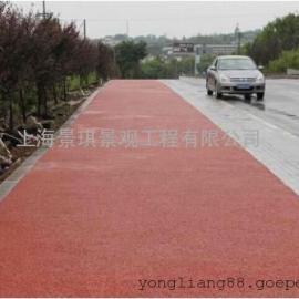 市政人行道彩色透水砼铺装,透水混凝土增强剂 透水地坪材料
