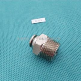 气动金属接头|快插直通PC终端接头|HRF6-03气管接头