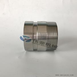 外螺纹连接不锈钢拷贝林卡箍接头、不锈钢哈夫短节