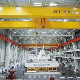 吊钩双梁桥式起重机 QD5t-19.5M,H=16M 亚重 地操双梁5吨16m跨度