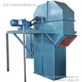 矿用煤渣耐高温斗式提升机定做 粮食入罐垂直上料机型号h7