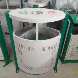 环畅hc2227户外冲孔钢制垃圾桶 小区垃圾箱 全国物流发货