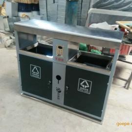 四川垃圾桶厂家供应自贡户外环保垃圾桶 钢板果皮箱