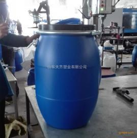 �S家新品批�l50L抱箍塑料桶加厚60L出口�卡子桶