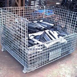 湖北物流仓库周转铁笼,武汉重型仓库笼工业专用,带盖仓库笼