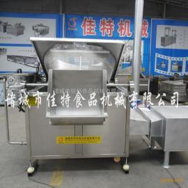 鱼豆腐油炸机,南京油水混合油炸机