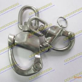 销售304不锈钢圈式旋转弹簧卸扣