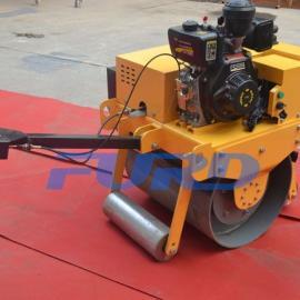 路面压实设备 小型手扶单钢轮压路机