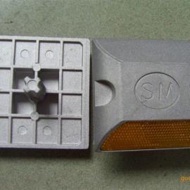 铸铝带钉道钉 道路减速道钉 突起路标 单双面