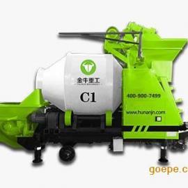搅拌拖泵-滚筒式搅拌拖泵-金牛C1-搅拌拖泵厂家:金牛重工