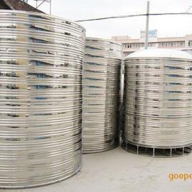 不锈钢保温圆形水箱 304不锈钢圆形水箱 立卧式不锈钢水箱