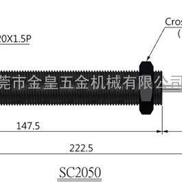 CEC油压缓冲器丝移印机用SC2050-2油压缓冲器