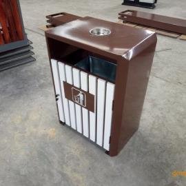 hc3021户外钢板木条垃圾桶 四川垃圾桶厂家直接供应