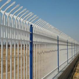 宁德防腐锌钢栅栏厂家@ 小区铁艺围墙 河源带弯头防爬护栏网