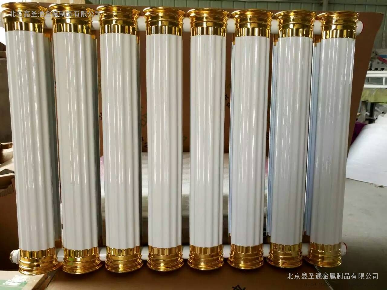 铜铝复合散热器 暖气片 新罗马柱欧式风情图片