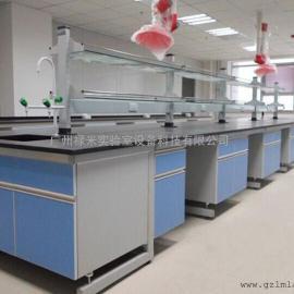 实验室操作台试验台理化板中央台厂家 肇庆钢木实验台价格