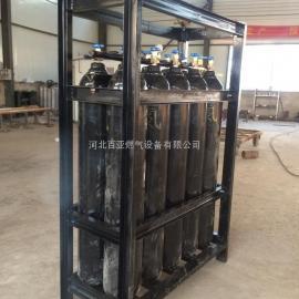供应百亚氮气储气瓶组 氮气集装格 气体储气瓶组