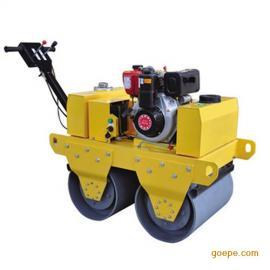 600型双轮振动碾沟槽回填双轮压路机手扶式沟槽压路机