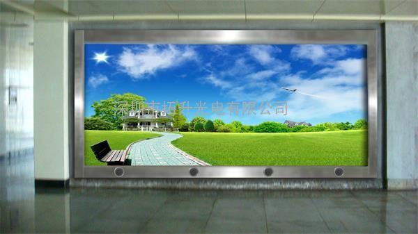 室内led电子大屏16:9效果图 p3大屏幕_室内全彩显示 .