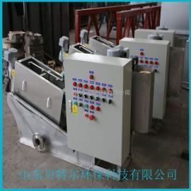 供应小型汽车污泥处理设备 贝特尔 叠螺污泥脱水机 操作灵活
