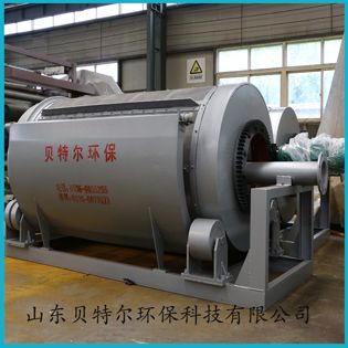 供应养鸡屠宰污水处理设备 贝特尔 转筒式微滤机 脱水设备