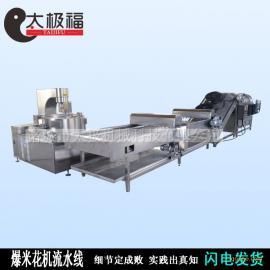 全自动打散挑选冷却输送爆米花机流水线 成套设备流水服务