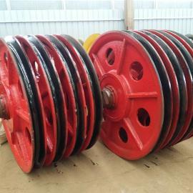 80T滑轮组 80吨行车滑轮卷扬机配滑轮 钓钩滑轮铸钢滑轮
