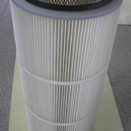 335*750工业粉尘滤芯 搅拌站除尘滤芯 烟气空气滤芯