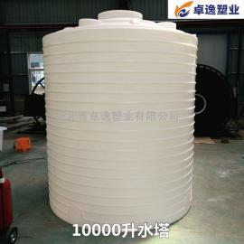 湖北卓逸 PT-10000塑料水塔 10吨塑胶水塔