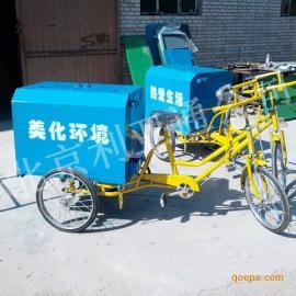 厂家厂价供应0.3立方铁板三轮垃圾车手推环卫保洁车人力三轮垃圾�