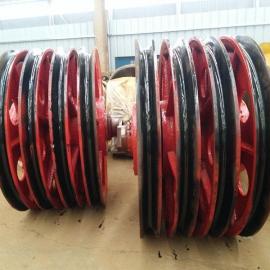 50t抓斗定滑轮 铸钢滑轮组 吊装滑轮组 桩机滑轮