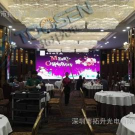 酒店宴会厅P5全彩高清led背景大屏幕