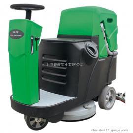 驾驶式电动洗地机爱姆乐740MINI工厂车间用大型洗地机