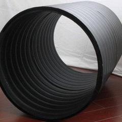 生产PE双平壁排水管材